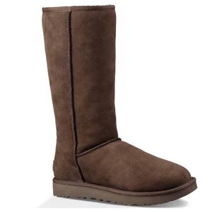 Ugg Womens Classic Tall Boot Chocolate Brown LEFT